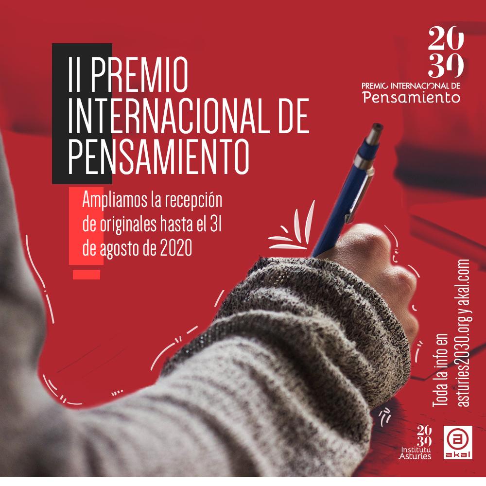 II PREMIO INTERNACIONAL DE PENSAMIENTO 2030 BASES REGULADORAS